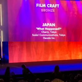 カンヌライオンズ2019で、ADKマーケティング・ソリューションズとCHERRYが携わった株式会社ヘカテの「What happened?」がフィルムクラフト部門ブロンズを受賞
